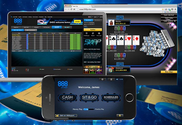 Покерный клиенты рума 888покер + 888poker для компьютера, смартфона и браузерная версия